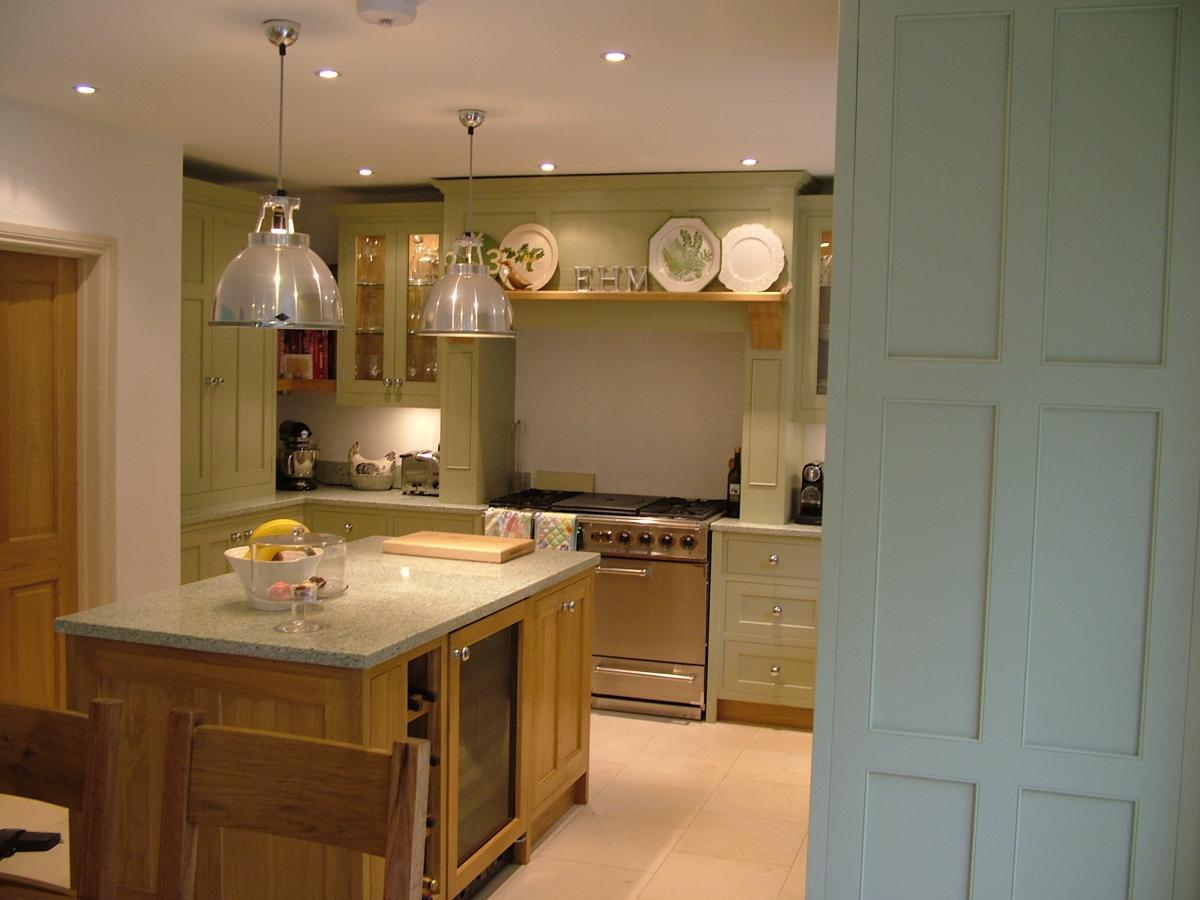 Painted And Oak Kitchen Kent Mark Stone S Welsh Kitchens