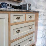 Rustic Painted and Oak Kitchen Brecon